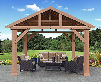 12x14 Pergola Canopy Amp 14 X 12 Wood Pavilion With